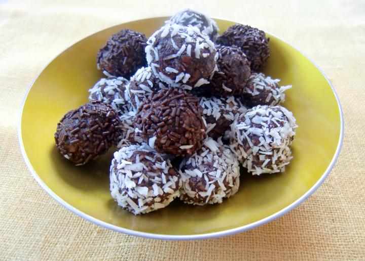 sjokoladeboller med kokos
