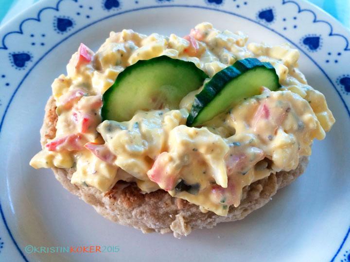 eggesalat, hjemmelaget pålegg, eggesalat uten melk og gluten
