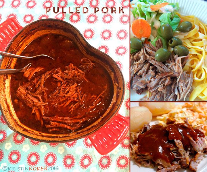pulled pork av svineknoke, enkel hjemmelaget pulled pork