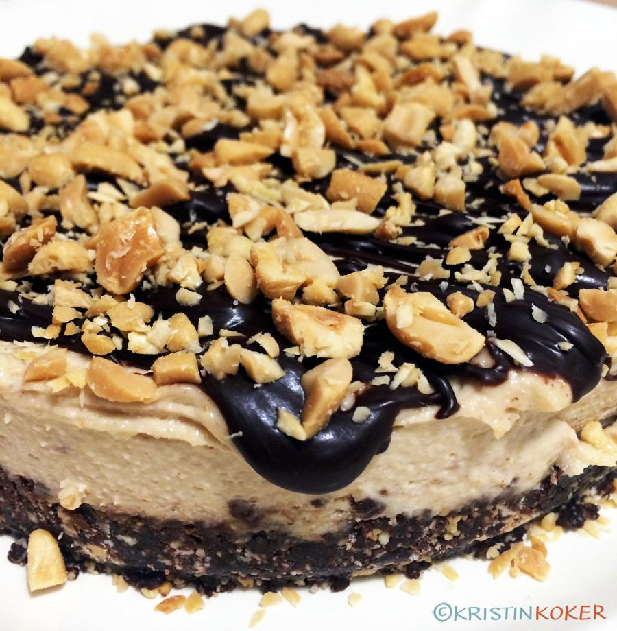 snickerskake raw vegansk uten raffinert sukker glutenfri melkefri