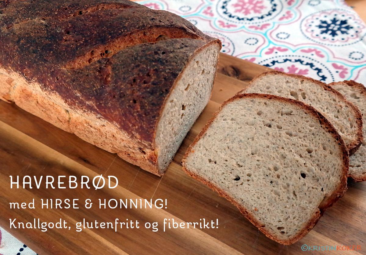 Havrebrød med hirse og honning