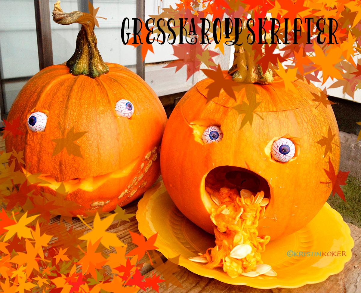 gresskaroppskrifter til halloween og oktober
