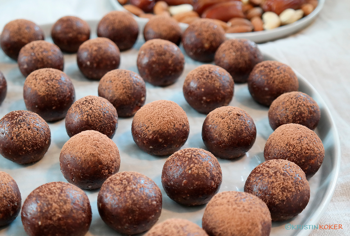 Bliss balls med sjokolade og krydder