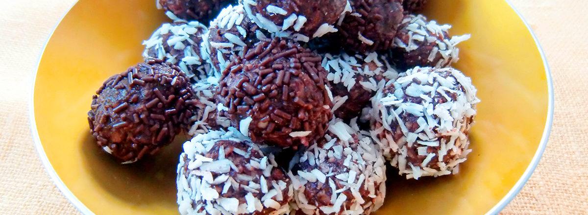 chokladbollar, sjokoladeboller med kokos og havregryn