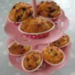 glutenfrie muffins med sjokoladebiter og vanilje