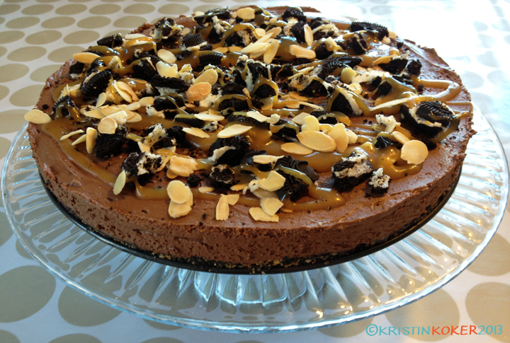 Glutenfri oreokake med sjokolademousse og tia maria