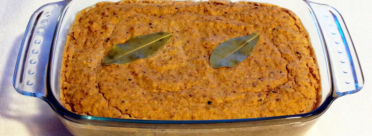 linsepostei, vegetarisk påleggspostei med solsikkefrø.