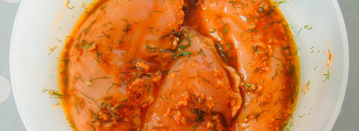 marinade til kylling, med dill og paprika