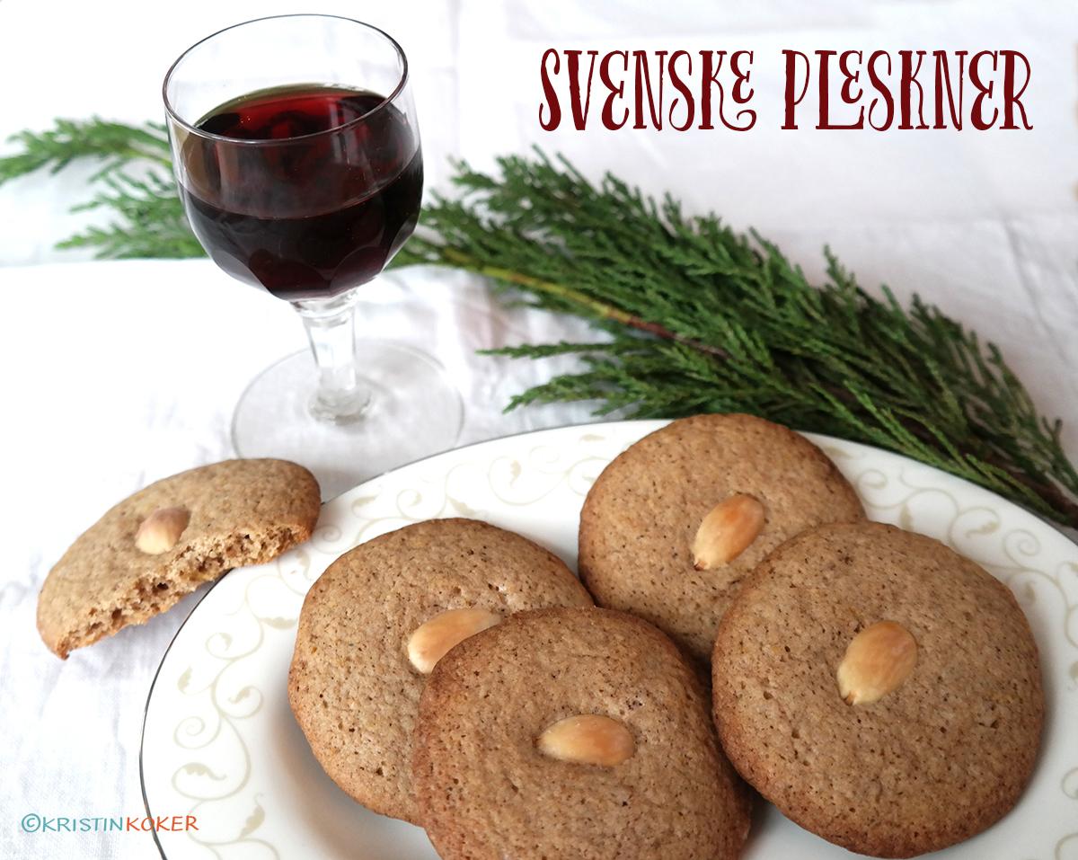 svenske pleskner, nydelige småkaker til jul