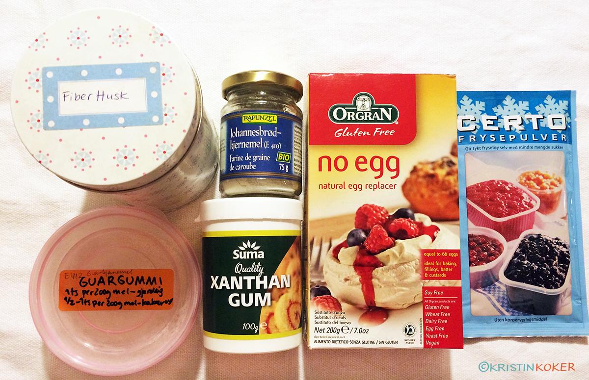 Glutenfrie bindemidler til baking