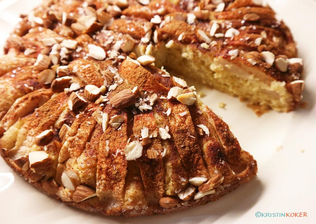 Glutenfri eplekake søtet med honning