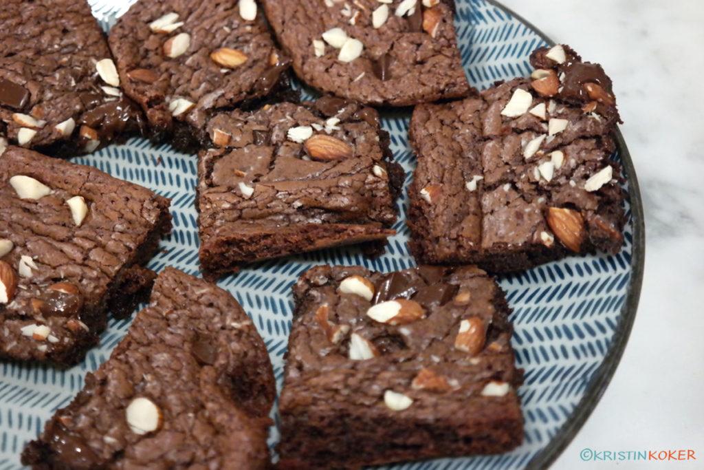 Enkel og kjempegod brownies uten melk og gluten