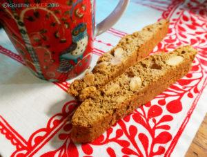 biscotti uten melk og gluten, glutenfri biscotti, pepperkakebiscotti