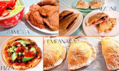 Glutenfritt bakkurs, innbakte godbiter, calzone, empanadas, samosas osv.