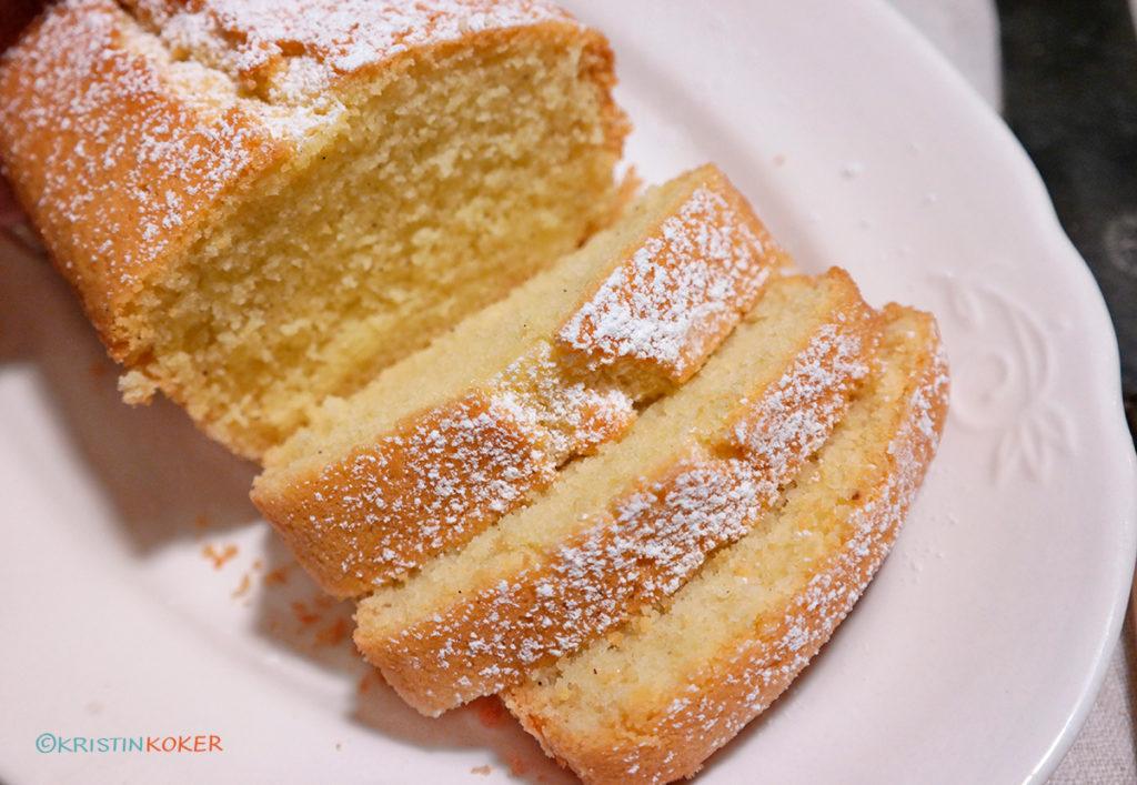Glutenfri og melkefri klassisk formkake med vanilje