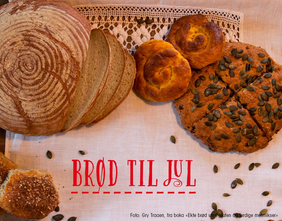 Brød til jul, oppskrifter fra boka Ekte brød uten gluten og ferdige melmikser