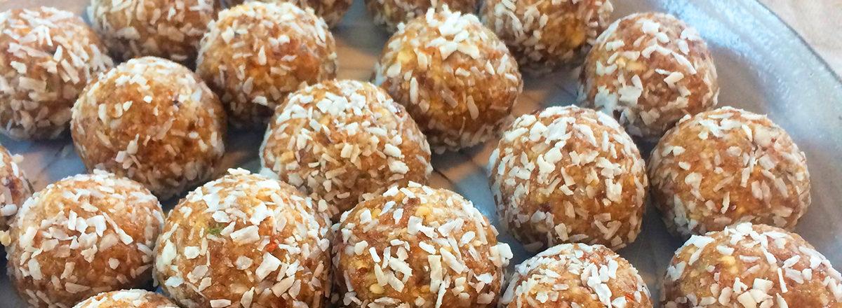 bliss balls, energikuler med kokos og lime.