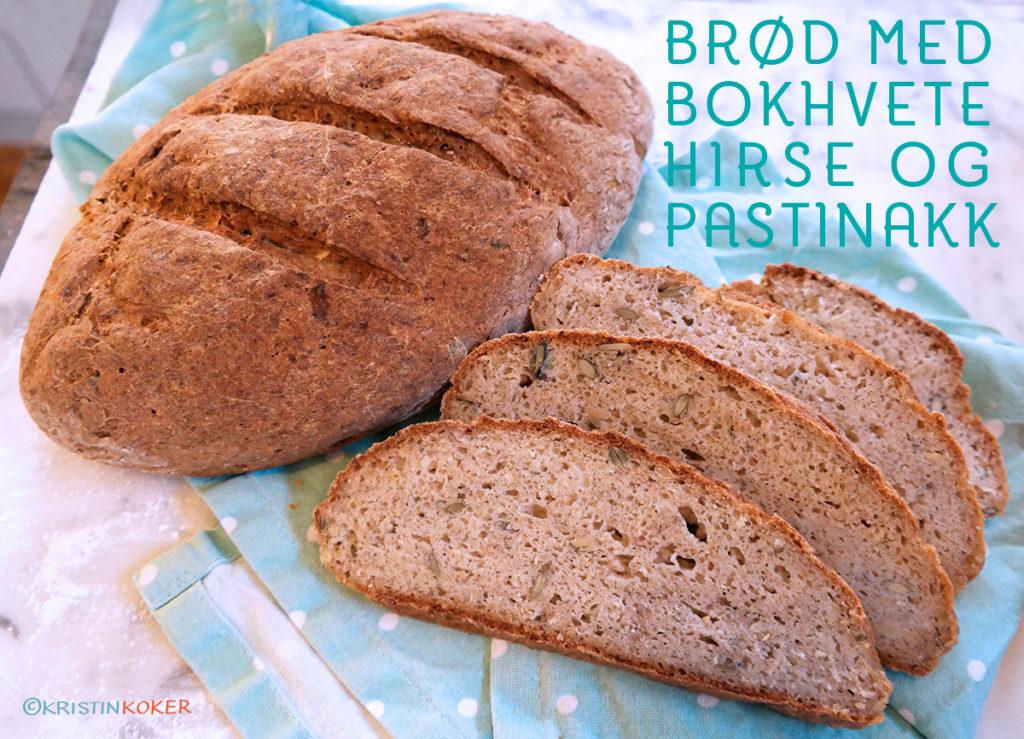 Glutenfritt brød med hirse, bokhvete og pastinakk
