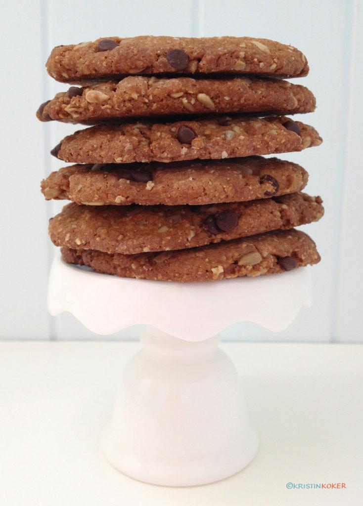 Juliakaker, sunnere glutenfrie sjokoladebitkjeks.