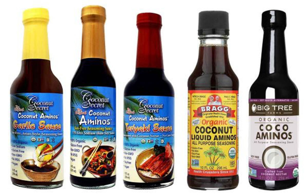 coconut aminos, different brands