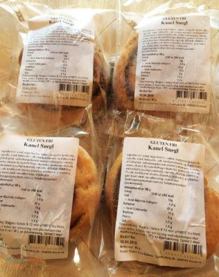 Glutenfrie frosne kanelsnegler fra Nordic Glutenfree Bakery