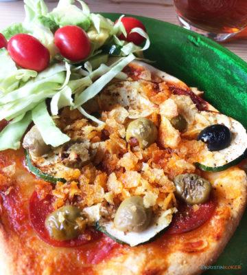 Hjemmelaget glutenfri og melkefri pizza