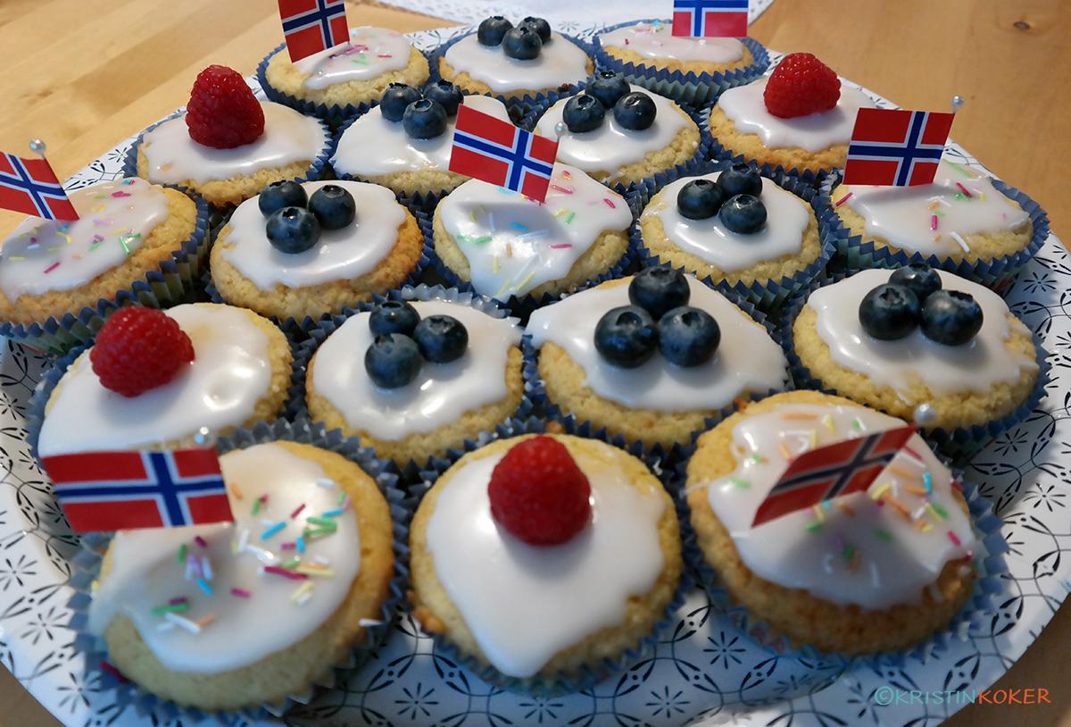 saftige glutenfrie muffins til 17.mai