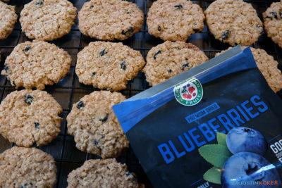 havrekjeks med tørka blåbær
