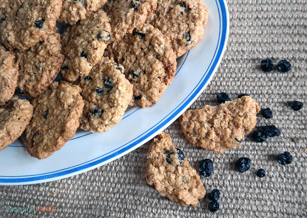Havrekjeks med blåbær (Copycat finax cookies med blåbær og havre)