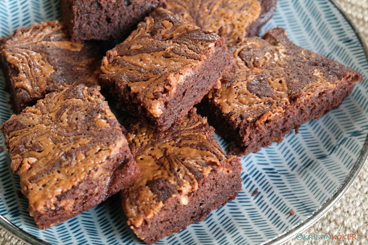 brownies med banan og peanøttsmør