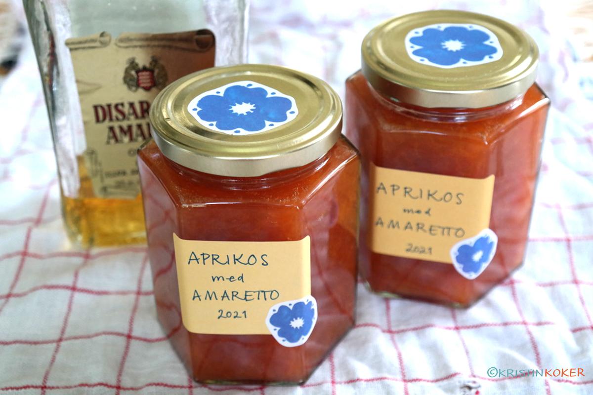 aprikossyltetøy med amaretto