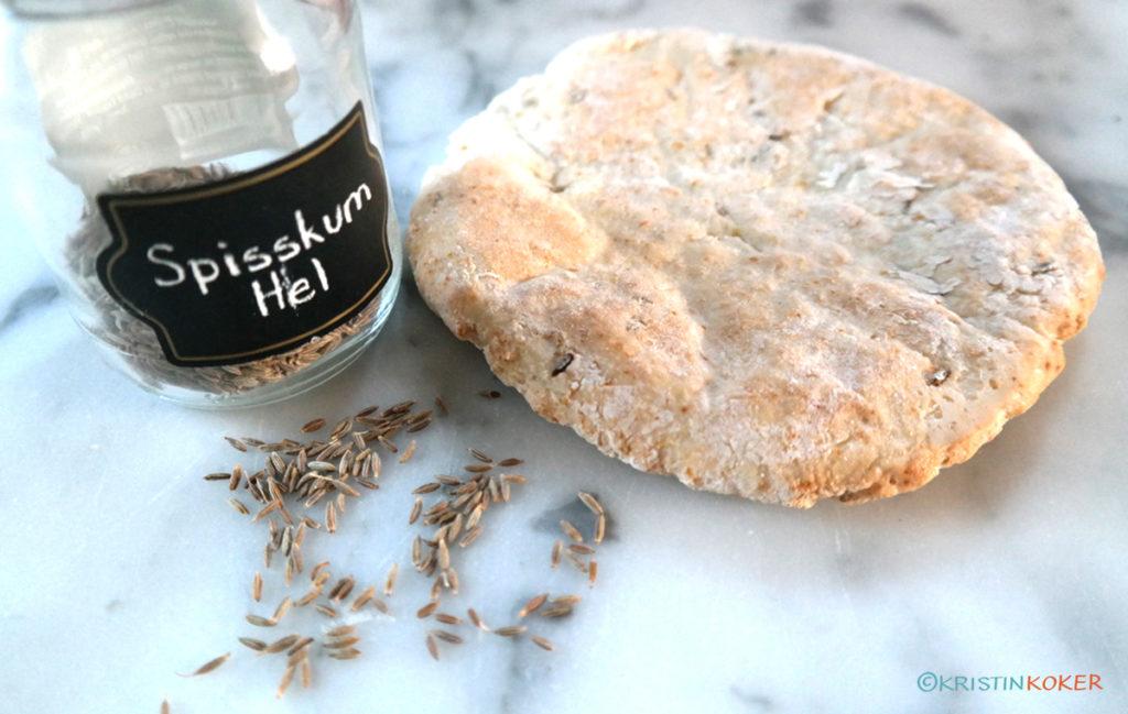 spisskummen og naanbrød med spisskummen